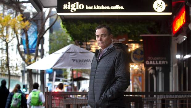 Police want a one-way door at Wellington's Siglo Bar after 3am. But owner Nick Mills opposes the condition.