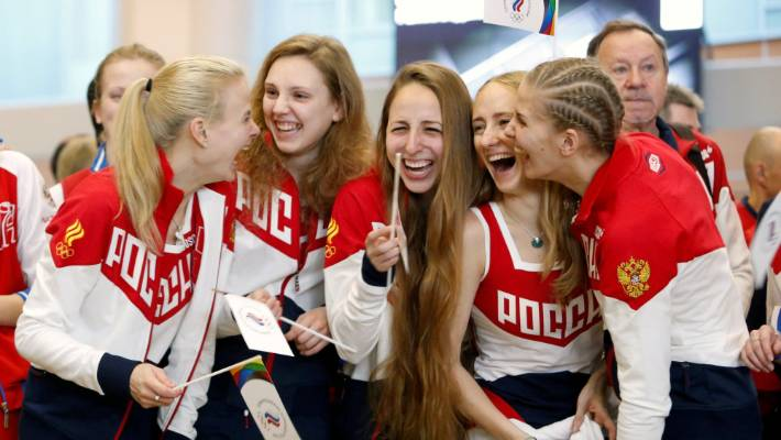 Russia's depleted Olympic team heads for Rio de Janeiro