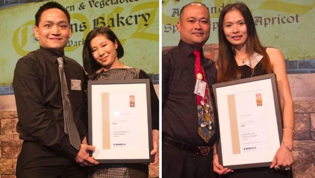 Savanchamroeun Ly with Linda Taing of Savans Bakery at Warkworth and  Bunnarith Sao with Navy Keo of Dairy Flat Bakery ...