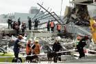 Search and recovery at the CTV building after the February 22, 2011, earthquake struck Christchurch.