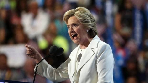 Hillary Clinton made history is the first woman to accept the nomination for president from a major US political party.