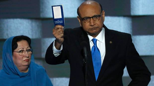 """""""My husband asked me if I wanted to speak, but I told him I could not,"""" Ghazala Khan says."""