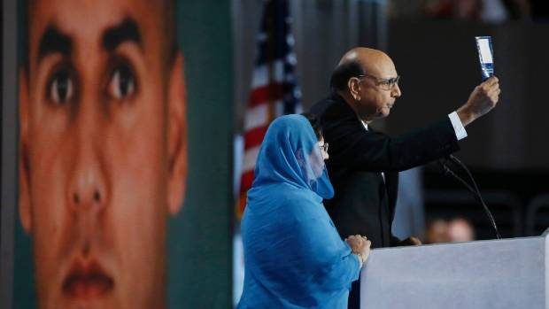 Donald Trump has drawn criticism from both sides of the presidential race for his comments about Khizr and Ghazala Khan, ...