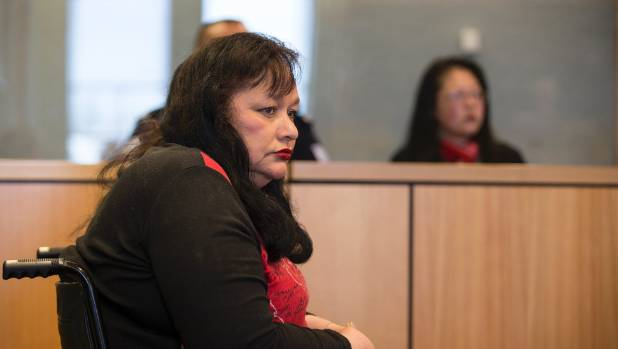 Luana Taylor (pictured) in the dock at the Auckland High Court.