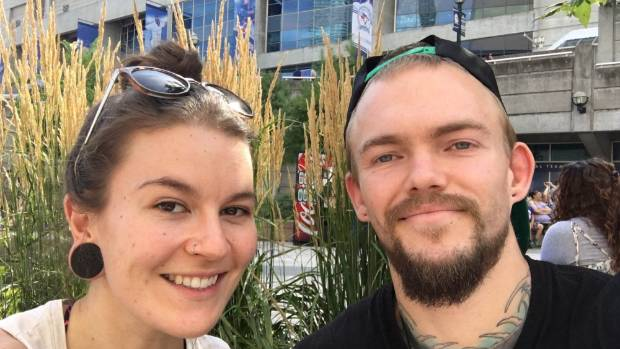 Laura McQuillan and Jason Lee in Toronto on Saturday.