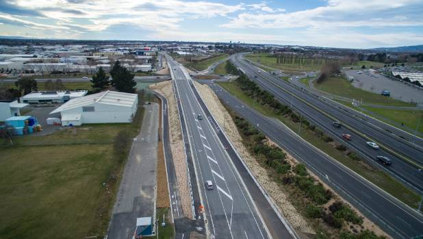 Christchurch's new overpass opened to vehicles on Saturday.