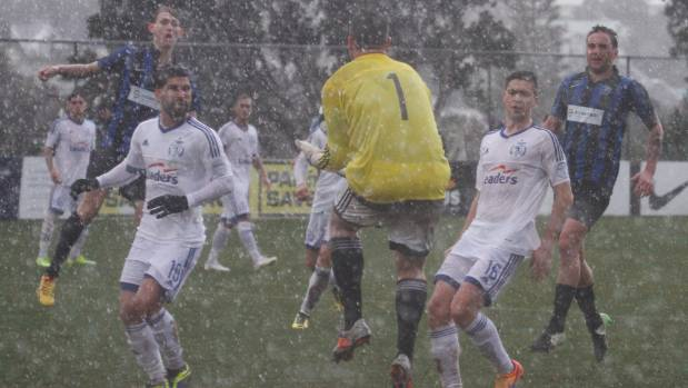 Conditions were trying for both teams at David Farrington Park on Saturday when Miramar Rangers beat Wellington Olympic ...