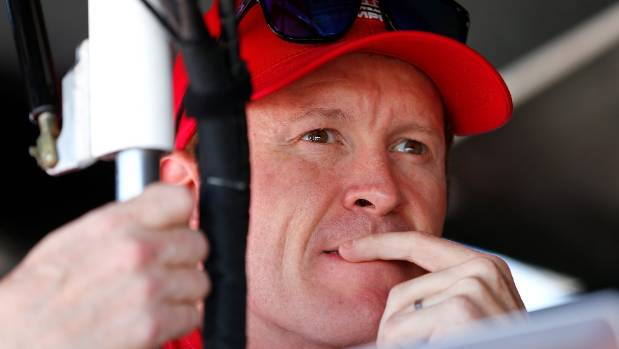 Scott Dixon was forced off the track when he made contact with Helio Castroneves.