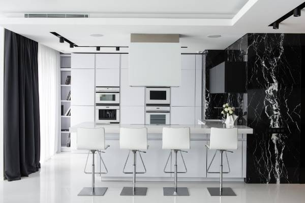 White Kitchen Nz interesting black and white kitchen nz in high gloss gunmental