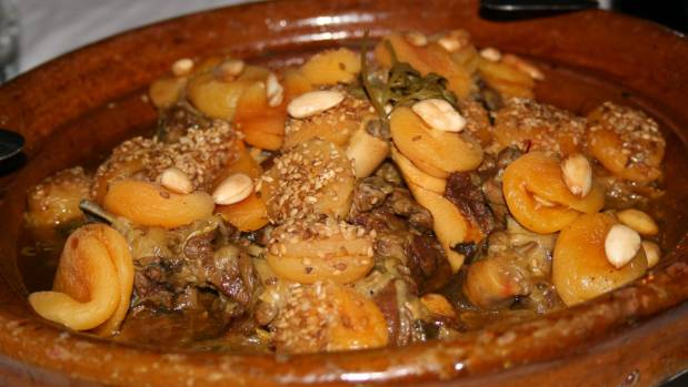 Traditional Moroccon lamb tagine is full of flavours.