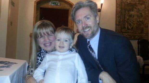 Kathryn, son Lachlan, and Greg Brain. The family faces deportation from Scotland unless they can find a job.