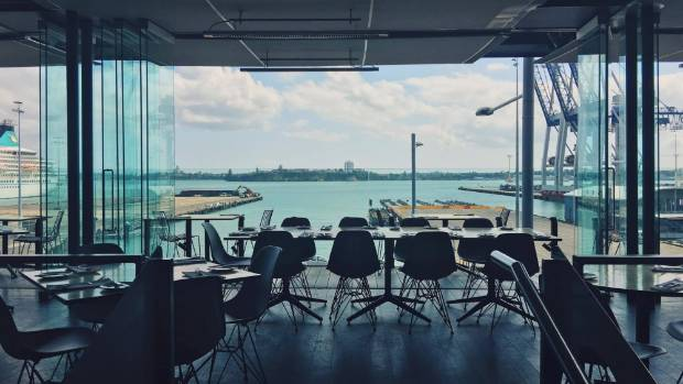 Ostro has sweeping views of Auckland Harbour.