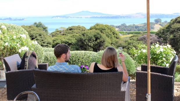 Mudbrick Vineyard on Waiheke Island is known for its panoramic views of of the gulf and islands.