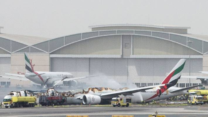 Emirates plane crash lands in Dubai, passengers, crew safe
