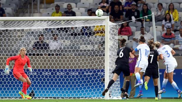 The United States beat the Football Ferns 2-0 at last year's Olympics.
