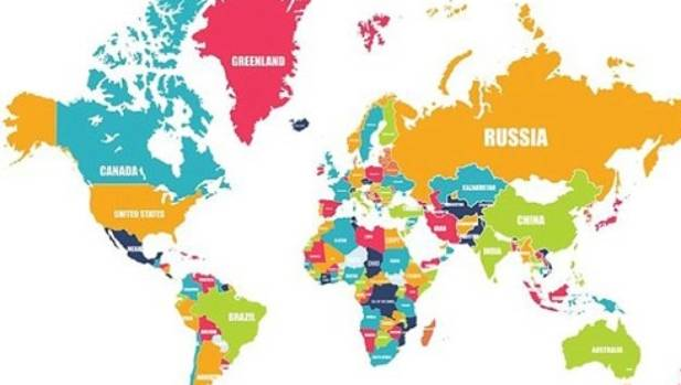 this is the correct version of the world map