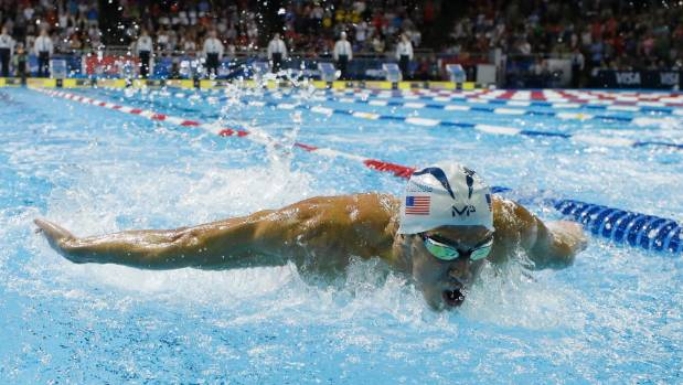 Michael Phelps' intimidating game face clearly worked as he reached the 200-metre butterfly final.