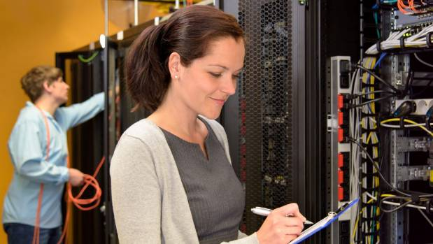 Woman can be discouraged from an IT profession through working language and culture.