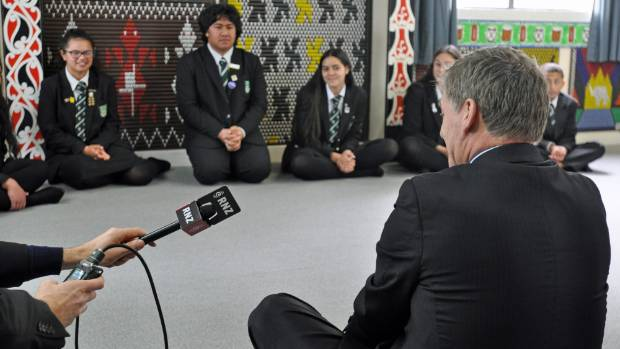 It was back to school for Deputy Prime Minister Bill English on Thursday. English visited the Taita College marae to  ...