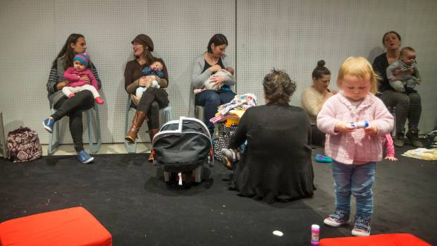 """The Big Latch On"" invited mothers to breastfeed to kick off the start of the 2016 World Breastfeeding Week."