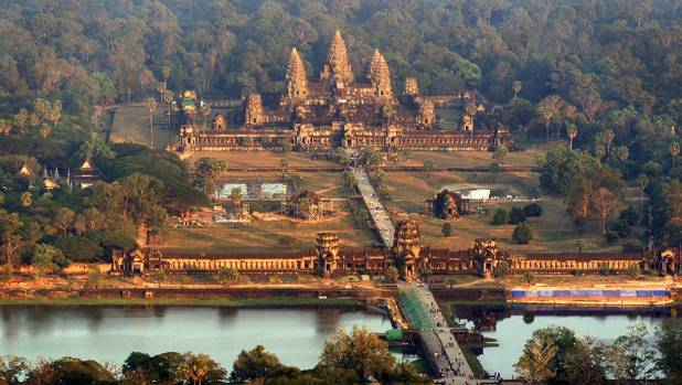Two American sister were arrested after taking naked photos at Cambodia's Angkor Wat.