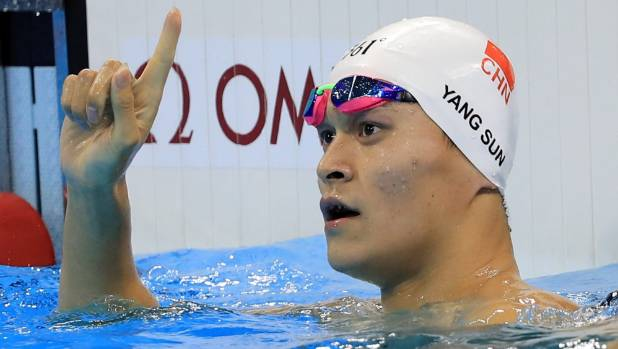 Controversial Chinese swimmer Sun Yang has been making waves at the Olympic training pool.