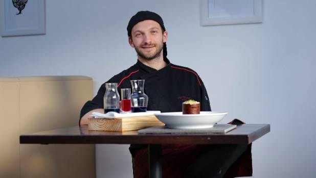 Chef Pierre-Alain Fenoux says he was inspired by Wellington landmarks like The Beehive and the Bucket Fountain for his dish.