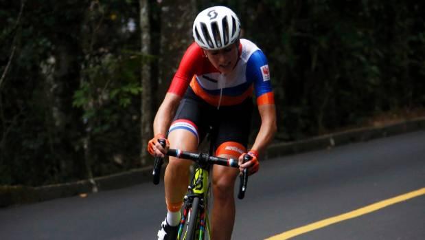 Annemiek van Vleuten during the women's road race in Rio.
