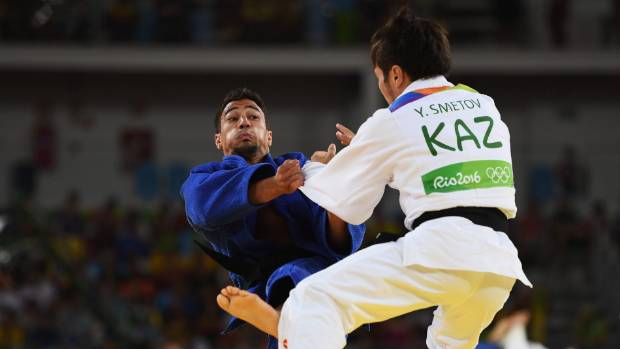 Ashley McKenzie lost to Yeldos Smetov of Kazakhstan in the round of 16 in his judo event.