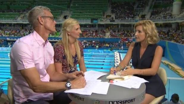 Viewers of Mark Foster, Rebecca Adlington and Helen Skelton's Olympic swimming coverage are more interested in sexual ...