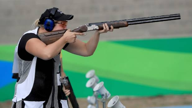 Natalie Rooney won the country's first Olympic medal, taking home a silver in the women's trap event.
