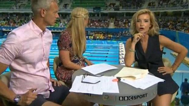 Forget the sports coverage - all viewers seemed to care about was Helen Skelton's legs.