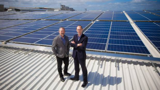 Sylvia Park site facilities manager Garth Dempsey, left, and Kiwi Property national facilities manager Jason Happy stand ...