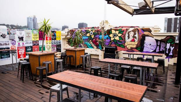 Dirty Little Secret is a rooftop bar on top of Five Stags on the corner of Taranaki and Dixon streets.
