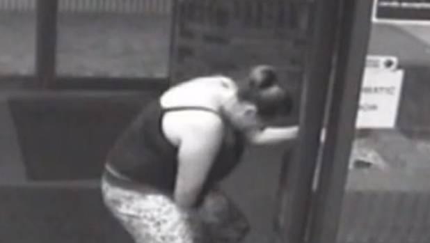 Amazing footage of baby's speedy birth in hospital doorway