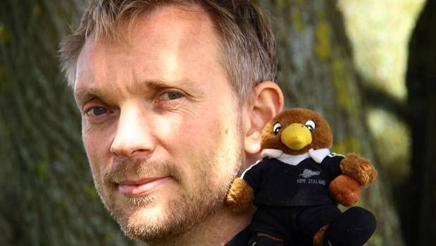Jon Beardmore travelled in the company of his mascot, Kiwi Ted.