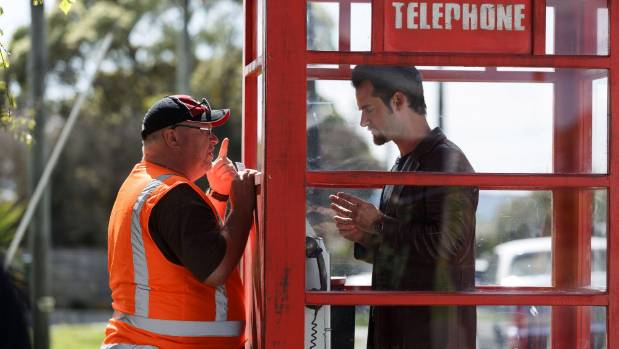 Westside episode 10: Director Murray Keane gives some last-minute instructions to lead actor David de Lautour, who plays ...