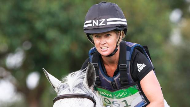 Jonelle Price on Faerie Dianimo picked up eight penalty points in the showjumping round, leaving the New Zealand ...