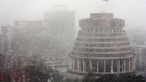 The Beehive in a blizzard on August 14, 2011.