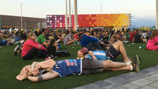 At The Rio Olympic Games Even Spectators Are Worn Out