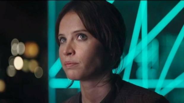 Felicity Jones as Jyn Erso in Rogue One: A Star Wars Story.