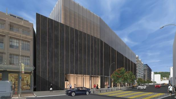 An artist impression of the original design for Wellington City Council's combined convention centre and movie museum, ...