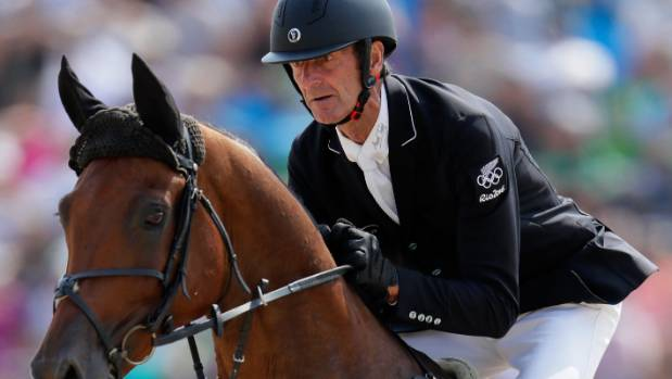 Sir Mark Todd of New Zealand riding Leonidas Ii at the Rio Olympics.