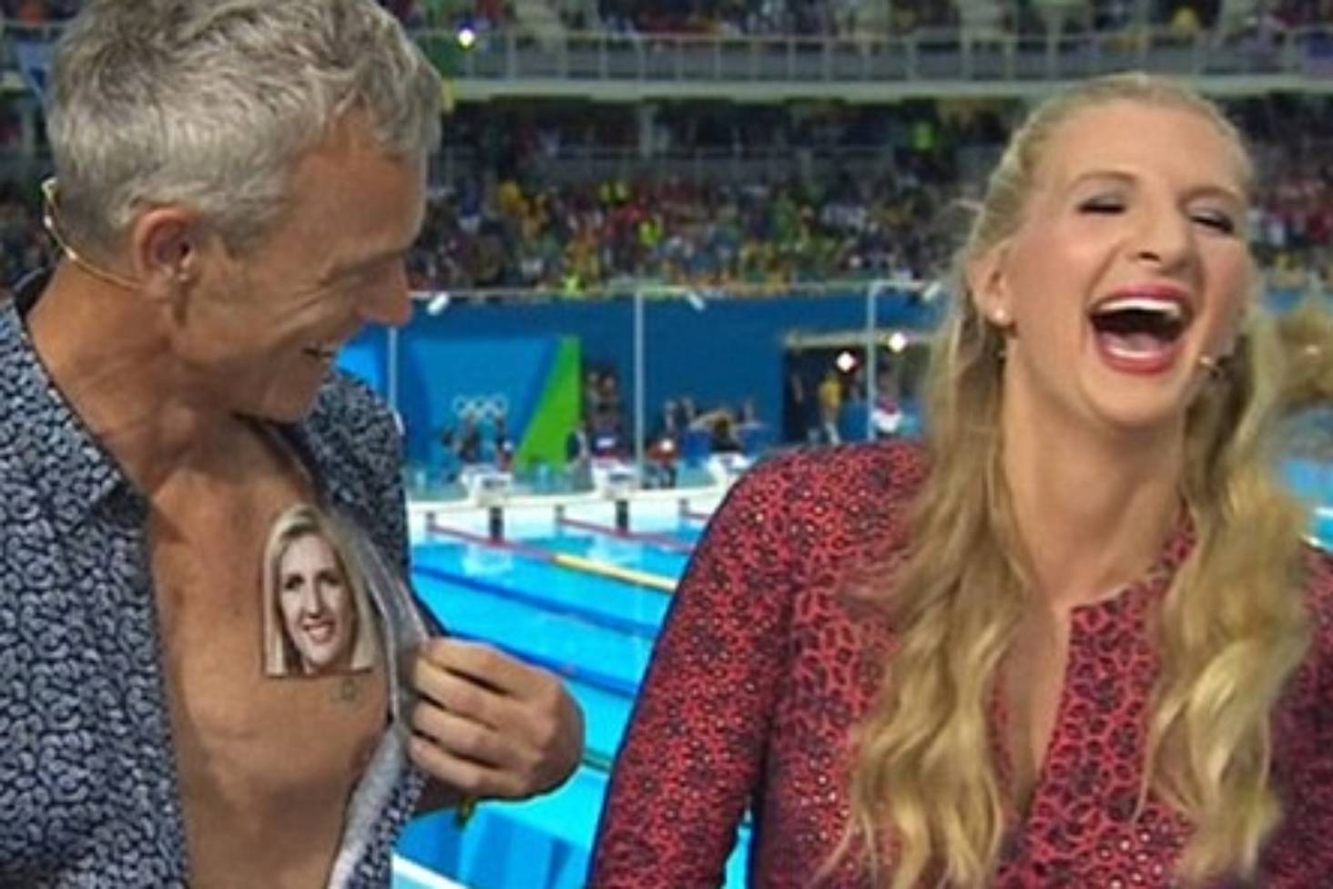 BBC swimming presenters back at it again with more