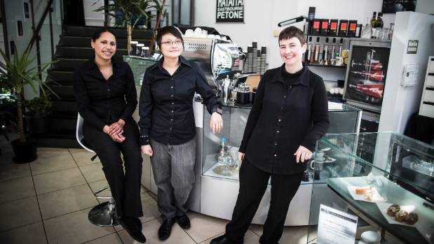 From left, Donna Manawatu, Becky Chin, and Shilinka Smith of Fusion Virtuoso.