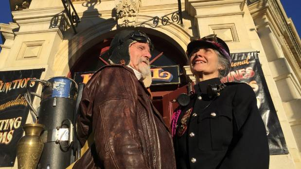 Iain Clark and Helen Jansen, organisers of the 2016 Steampunk NZ Festival in Oamaru.