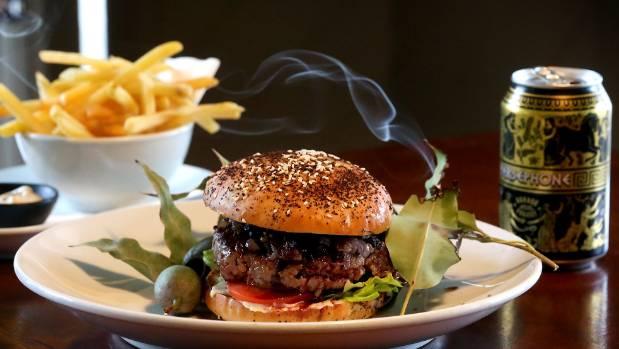 The Kangaroo Burger Jacob Brown created for Wellington on a Plate.