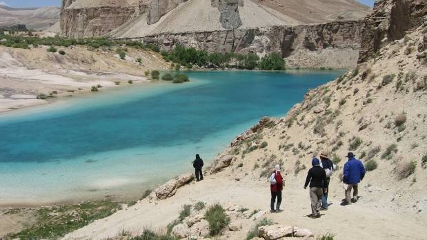 Tourists take part in a trip of Bamyan and Band e Amair