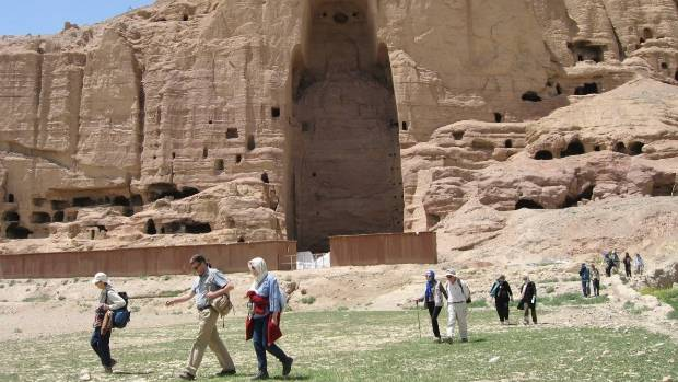 Tourists take part in a trip of Bamyan and Band e Amair.