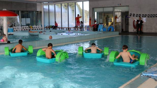 Paddle boat racing: Rolleston's new indoor pool is already pegged for expansion.